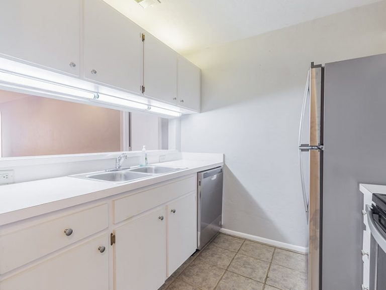 CountrySide at the University apartment interior - kitchen with new stainless steel appliances