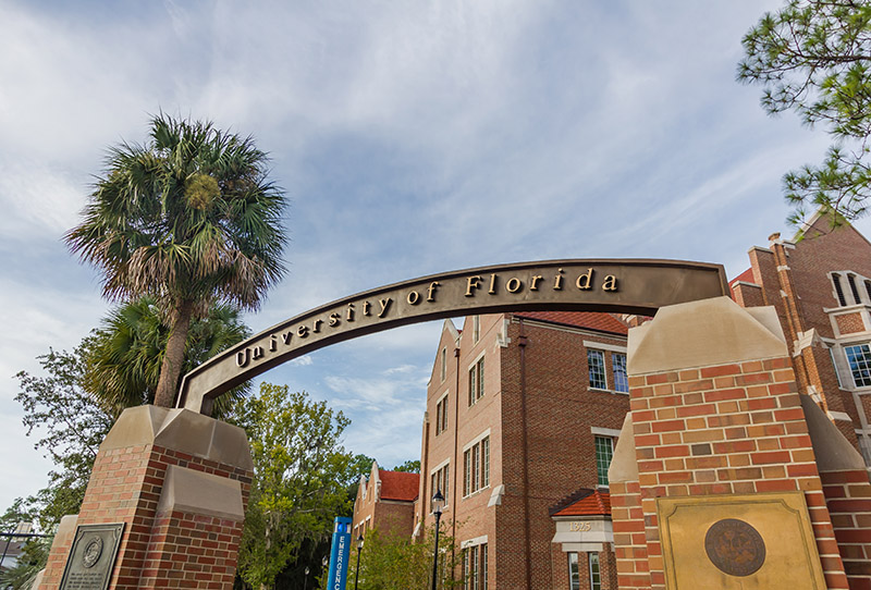 Entrance Sign at the University of Florida in Gainesville
